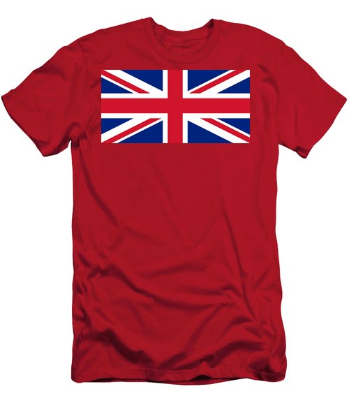 Men's T-Shirt (Athletic Fit) featuring the digital art Union Flag by John Lowe