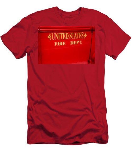 United States Fire Department Engine Men's T-Shirt (Slim Fit) by Toni Hopper