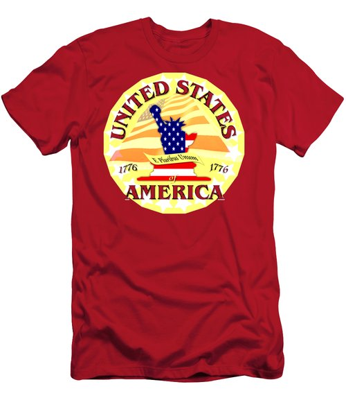 United States Of America Design Men's T-Shirt (Athletic Fit)
