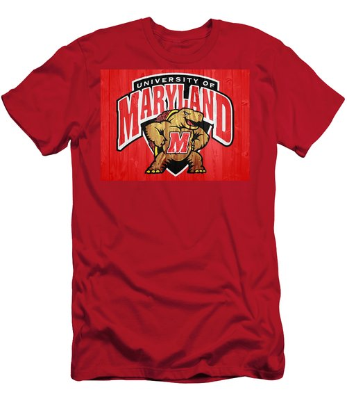 University Of Maryland Barn Door Men's T-Shirt (Athletic Fit)