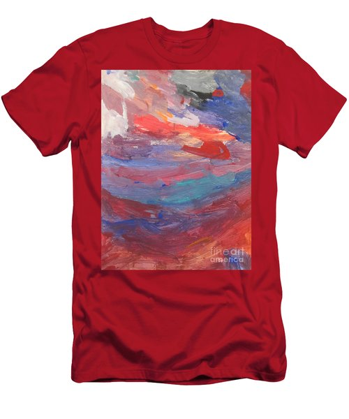 Untitled 96 Original Painting Men's T-Shirt (Athletic Fit)