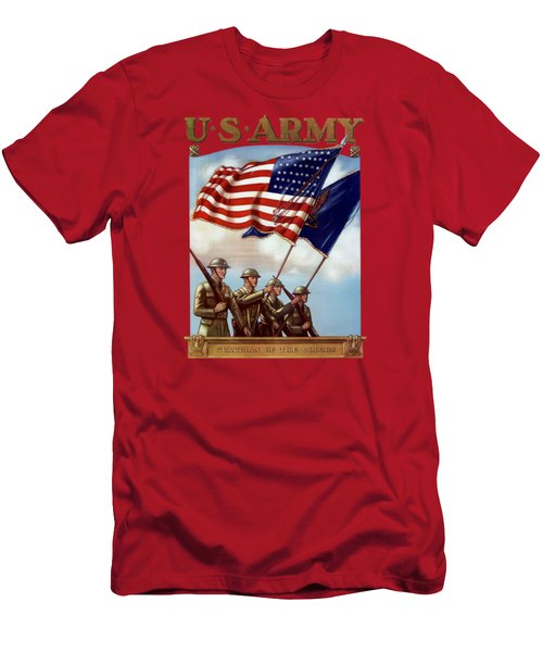 Us Army -- Guardian Of The Colors Men's T-Shirt (Athletic Fit)