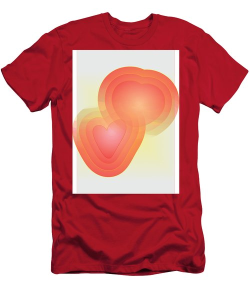 Men's T-Shirt (Slim Fit) featuring the digital art Valentine by Sherril Porter