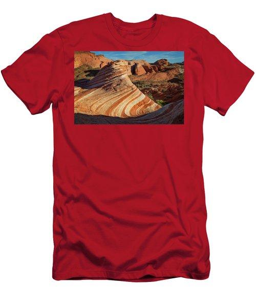Valley Of Fire Xiv Men's T-Shirt (Slim Fit)