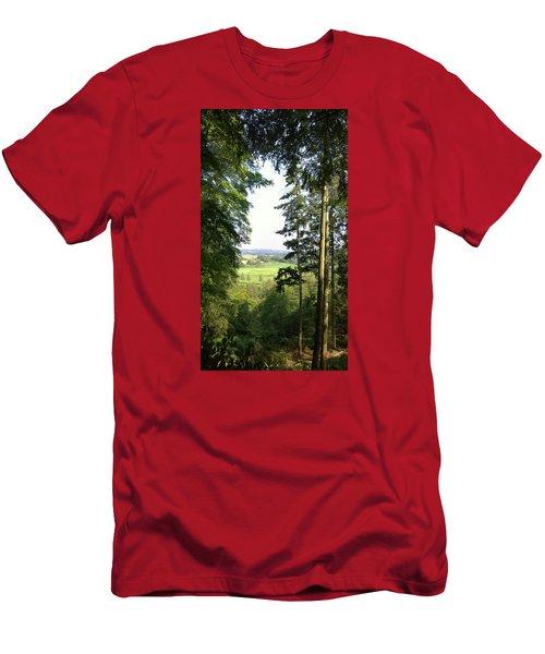 Valley View Men's T-Shirt (Slim Fit) by Anne Kotan