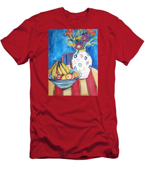 Vase And Bowl Men's T-Shirt (Slim Fit) by Esther Newman-Cohen
