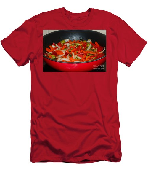 Vegetable Stir Fry By Kaye Menner Men's T-Shirt (Slim Fit) by Kaye Menner