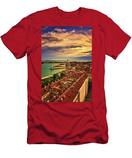 From The Bell Tower In Venice, Italy Men's T-Shirt (Athletic Fit)