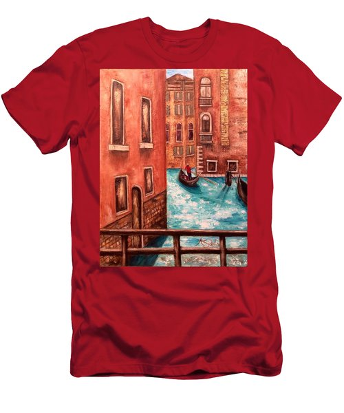 Venice Men's T-Shirt (Slim Fit) by Annamarie Sidella-Felts