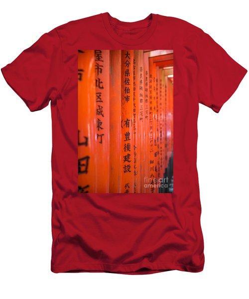 Vermillion Torii I Men's T-Shirt (Athletic Fit)
