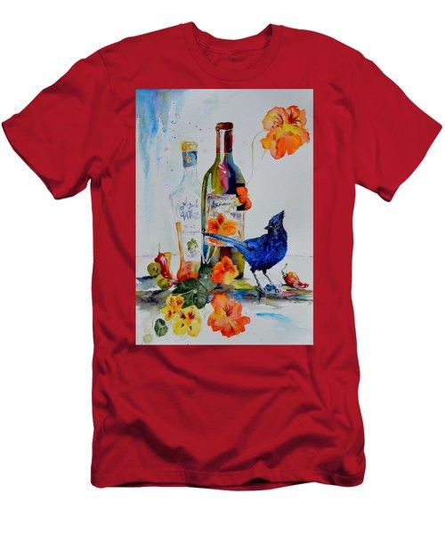 Still Life With Steller's Jay Men's T-Shirt (Slim Fit) by Beverley Harper Tinsley