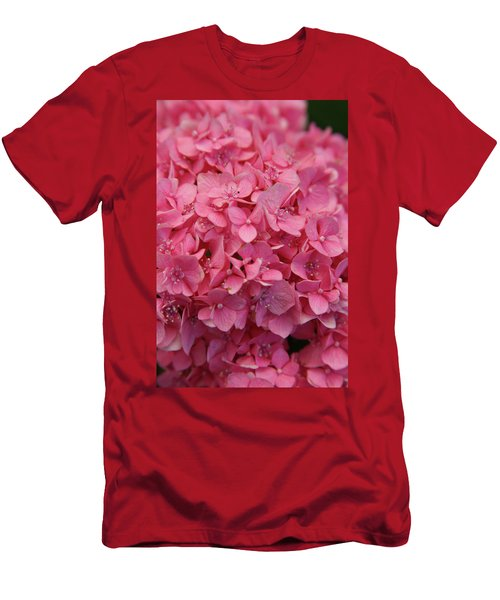 Very Pink Hydrangea Blossoms 2578 H_2 Men's T-Shirt (Athletic Fit)
