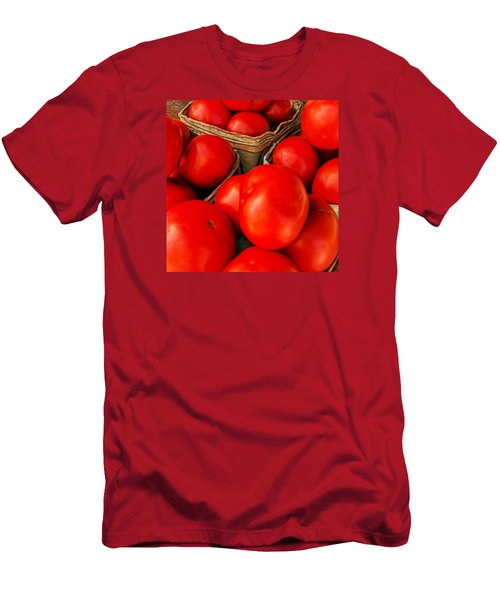 Very Red Tomatoes Men's T-Shirt (Slim Fit) by Lewis Mann