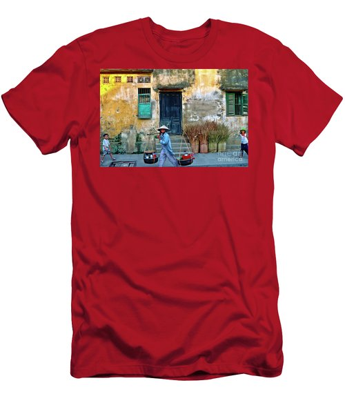 Men's T-Shirt (Athletic Fit) featuring the photograph Vietnamese Street Food Sound by Silva Wischeropp