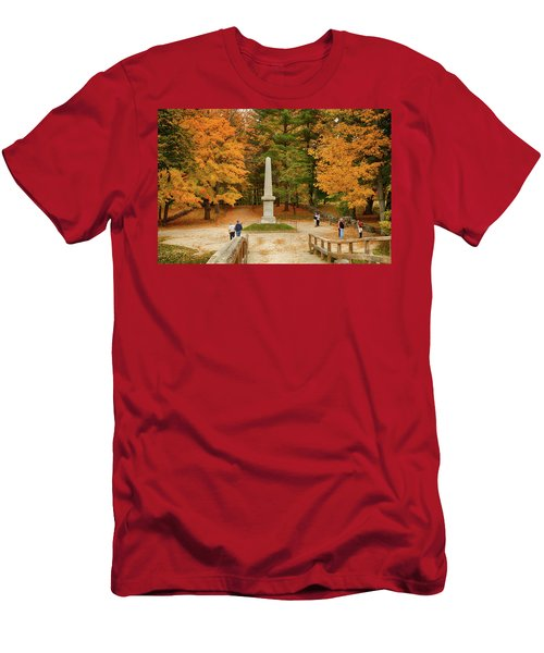 View From The Old North Bridge Men's T-Shirt (Athletic Fit)
