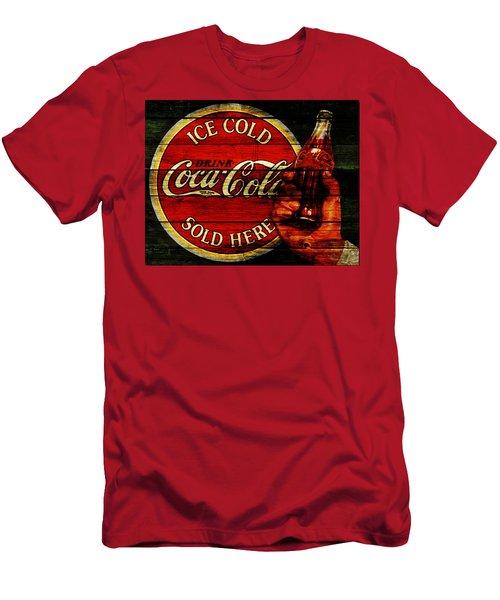 Vintage Coca Cola Sign 1c Men's T-Shirt (Athletic Fit)