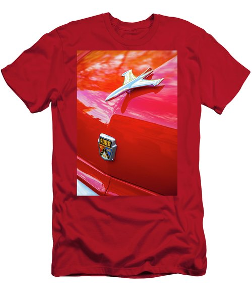 Men's T-Shirt (Athletic Fit) featuring the photograph Vintage Ford Hood Ornament Havana Cuba by Charles Harden