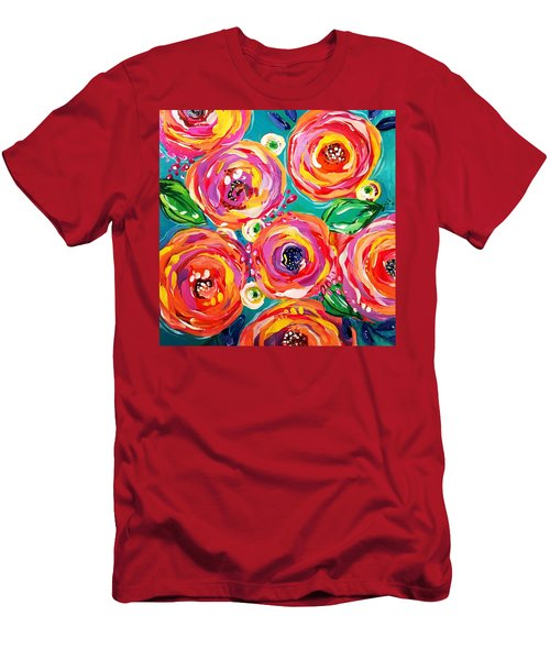 Vivid Flora Men's T-Shirt (Athletic Fit)