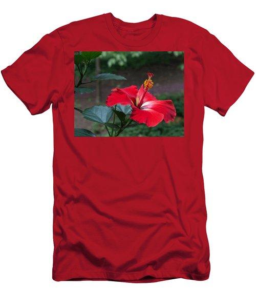 Vivid Hibiscus Men's T-Shirt (Athletic Fit)