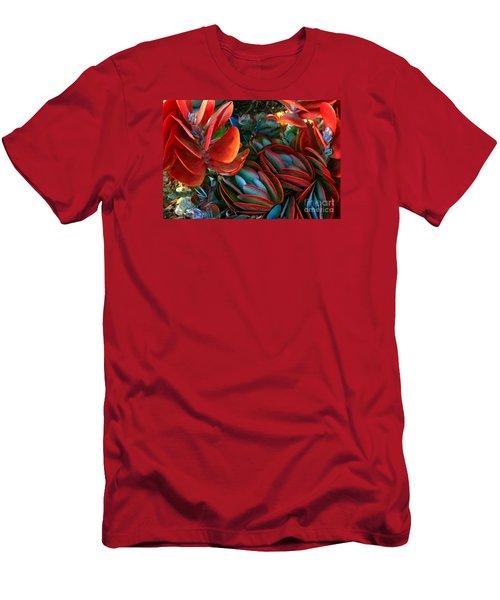 Vivid Paddle-leaf Succulent Men's T-Shirt (Athletic Fit)