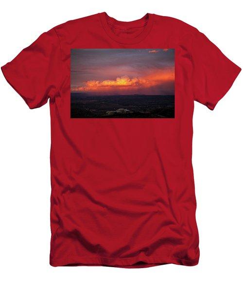 Vivid Verde Valley Sunset Men's T-Shirt (Slim Fit) by Ron Chilston
