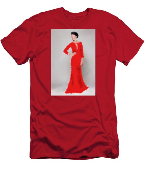 Men's T-Shirt (Slim Fit) featuring the digital art Vivienne by Nancy Levan