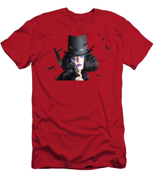 Vogue Woman In Black Costume Men's T-Shirt (Slim Fit)