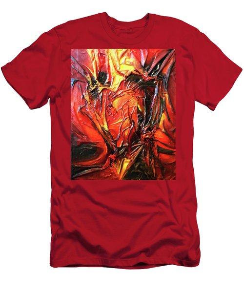 Volcanic Fire Men's T-Shirt (Slim Fit) by Angela Stout