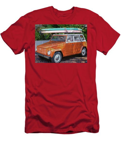 Volkswagen And Surfboards Men's T-Shirt (Athletic Fit)