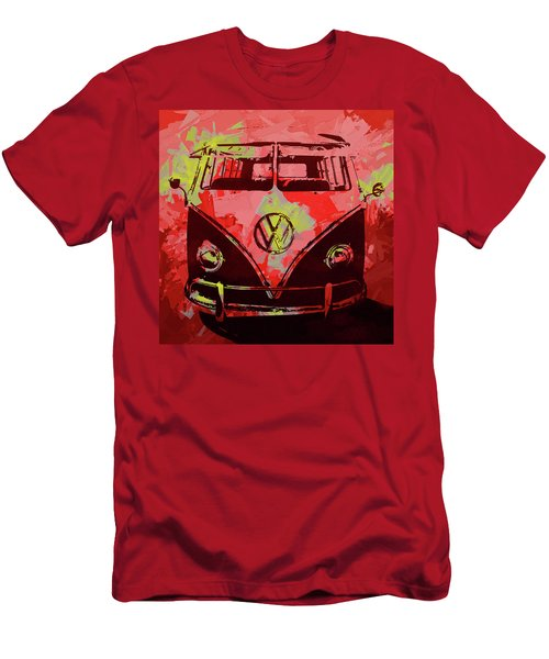 Volkswagen Bus Pop Red Men's T-Shirt (Athletic Fit)