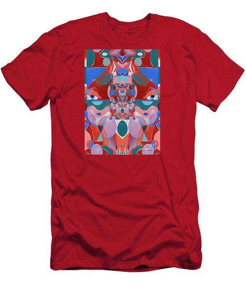 Abstract Vortex In Red Men's T-Shirt (Athletic Fit)