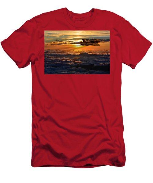 Vulcan Bomber Sunset 2 Men's T-Shirt (Slim Fit) by Ken Brannen