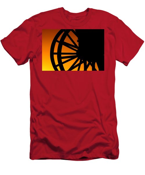 Wagon Wheel Sunset Men's T-Shirt (Athletic Fit)