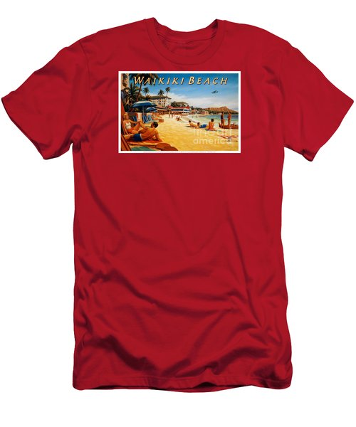 Waikiki Beach Men's T-Shirt (Athletic Fit)