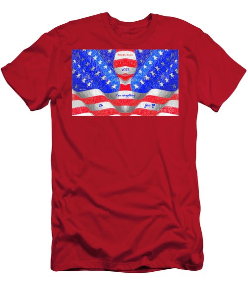 Men's T-Shirt (Athletic Fit) featuring the digital art Wake Up America by Rafael Salazar