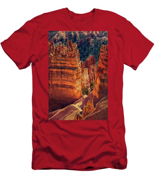 Men's T-Shirt (Athletic Fit) featuring the photograph Walking Among Giants by John Hight