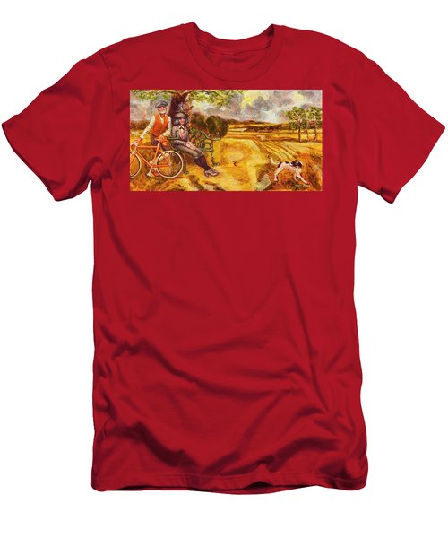 Walking The Dog After Gainsborough Men's T-Shirt (Athletic Fit)