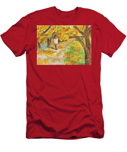 Walking The Truckee River Men's T-Shirt (Athletic Fit)