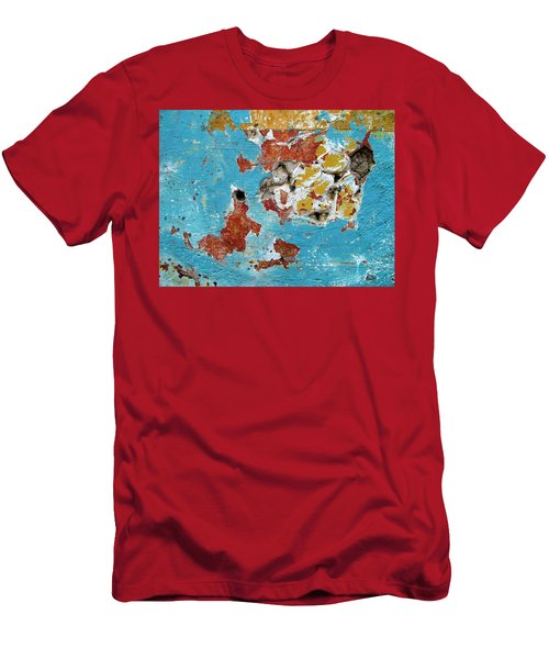 Wall Abstract 99 Men's T-Shirt (Slim Fit) by Maria Huntley