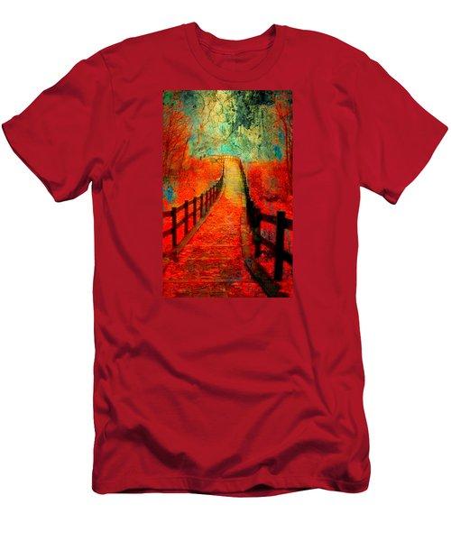 Wander Bridge Men's T-Shirt (Slim Fit) by Greg Sharpe