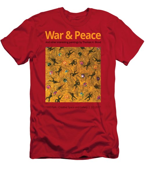 War And Peace T-shirt Men's T-Shirt (Slim Fit) by Thomas Blood