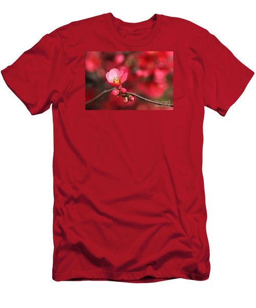Warmth Of Flowering Quince Men's T-Shirt (Athletic Fit)