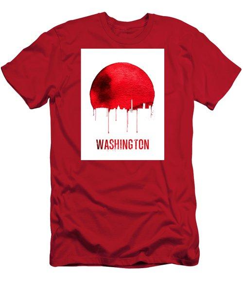 Washington Skyline Red Men's T-Shirt (Slim Fit) by Naxart Studio