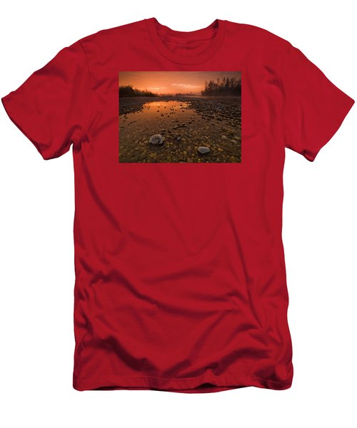 Water On Mars Men's T-Shirt (Slim Fit) by Davorin Mance