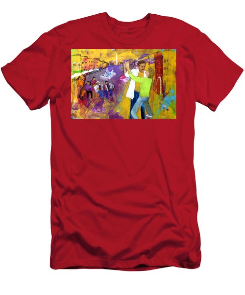 We Tangoed On The Piazza Navono Men's T-Shirt (Athletic Fit)