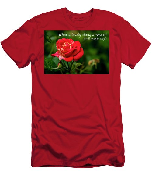 What A Lovely Thing A Rose Is Men's T-Shirt (Athletic Fit)
