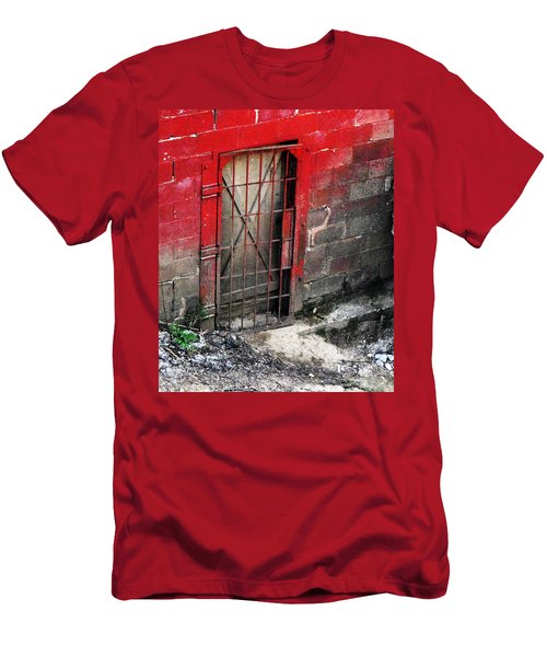 Men's T-Shirt (Athletic Fit) featuring the photograph What Lies Behind The Door by W And F Kreations