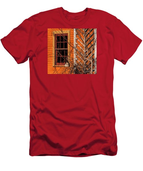 Men's T-Shirt (Slim Fit) featuring the photograph White Bird House by Trey Foerster