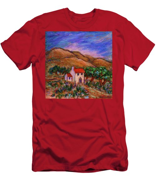 Men's T-Shirt (Athletic Fit) featuring the painting White House In An Oak Grove by Xueling Zou
