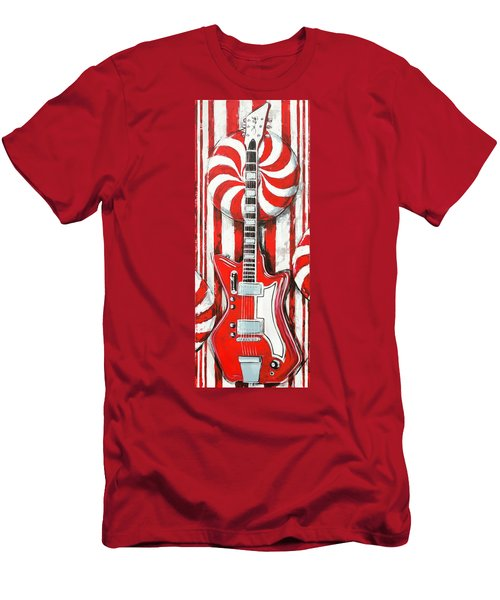 White Stripes Guitar Men's T-Shirt (Athletic Fit)